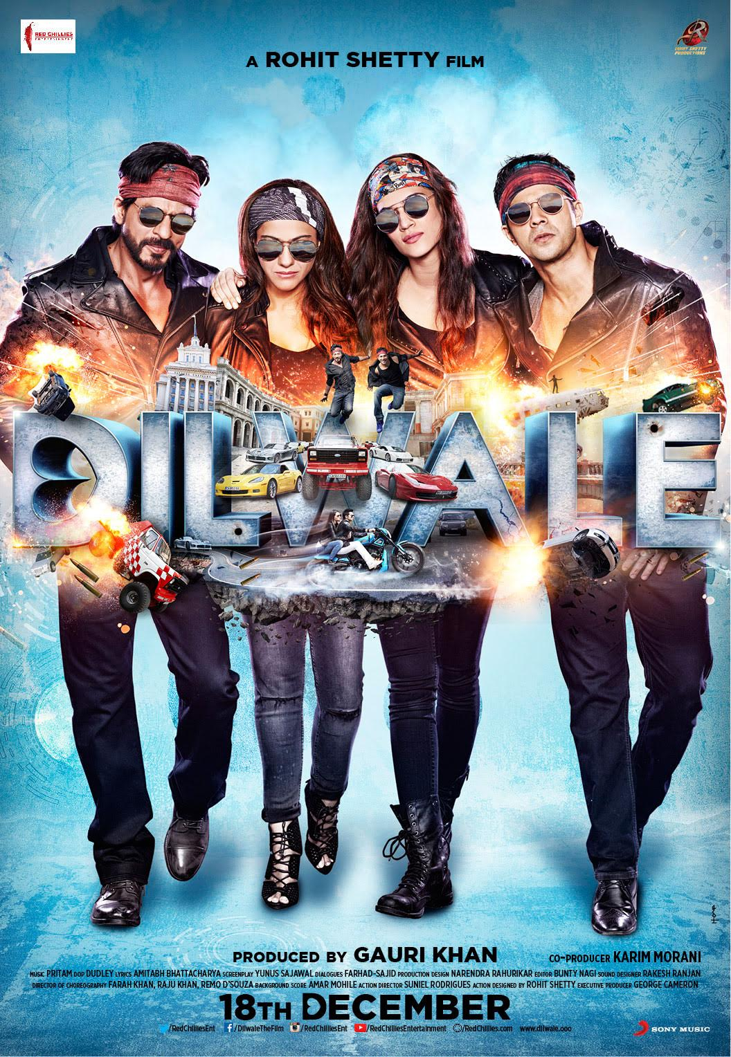 Check Out SRK Kajol Varun And Kriti In These Dilwale Movie Posters Bollywood Film Fame Canada